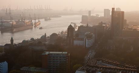 Hamburg aerial panoramic view