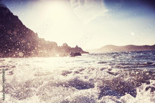 Foto op Canvas Water Wave