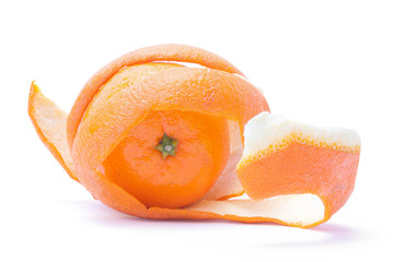 orange into the peel