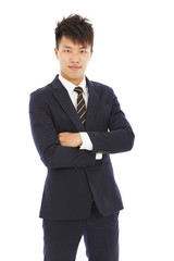 attractive young businessman