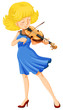 A pretty girl playing the violin