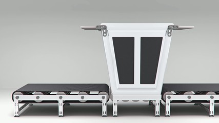 empty conveyor convector  animation