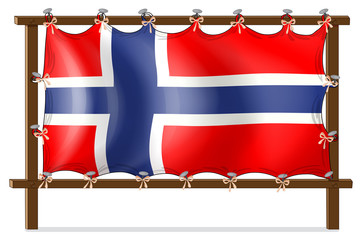 A frame with the flag of Norway