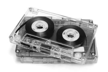 Cassette tape on white background