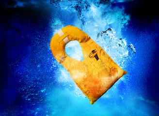life jacket sinking