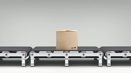 conveyor with carton animation