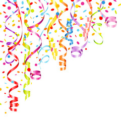 Party Background Streamers & Confetti Color