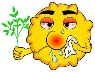 Pollen mit Heuschnupfen
