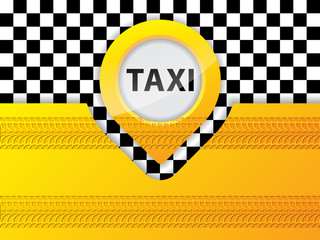 Taxi background design with tire treads