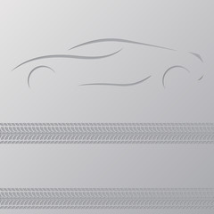 Car advertisement wallpaper design
