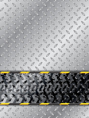 Abstract industrial background with tire track