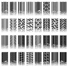 Set of tileable tire track patterns
