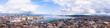 Leinwanddruck Bild - Panoramic view of city of Geneva, the Leman Lake and the Water