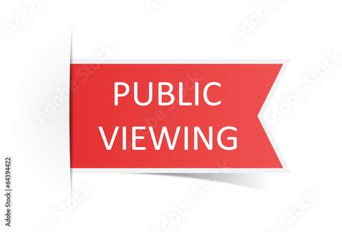 Schild rot Public Viewing