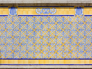 Azulejos On a Building Exterior