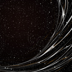 Abstract fantastic background with stars