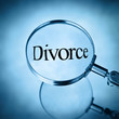 divorce under magnifying glass