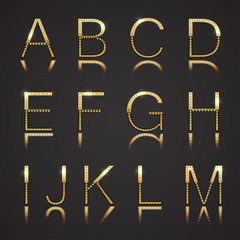 Diamond and Gold Letters - Set 1