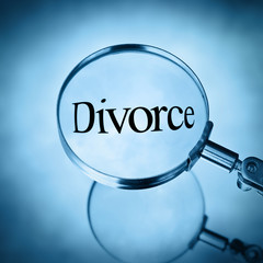 divorce under magnifying glass