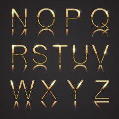 Diamond and Gold Letters - Set 2