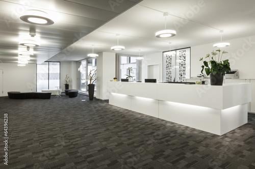 Empty reception hall in modern building - 64396238