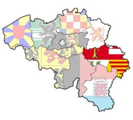 liege on map of belgium