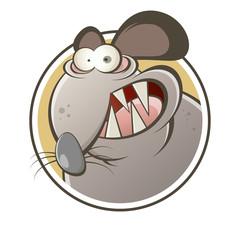 ratte cartoon lustig maus logo