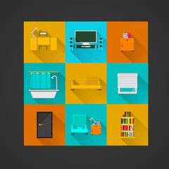 Icons for apartment