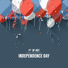 Independence day - vector background in flat design style