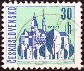 Kosice town (Czechoslovakia 1965)