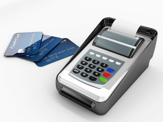 paying way or credit card and pos machine