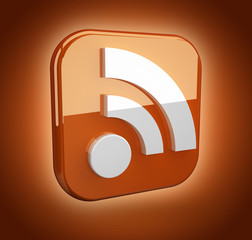 feed or rss icon (3D)