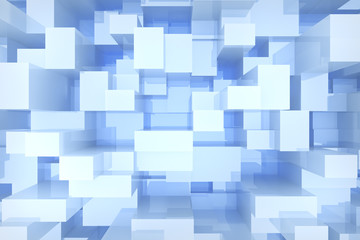 blue cubes background