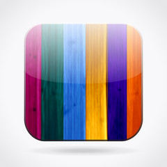 Colorful wooden icon