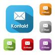 """""""KONTAKT"""" Buttons (Kundenservice Rufen Sie An Uns Hotline Daten)"""