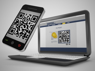 QR code and mobile phone paying method