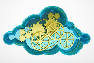 cloud computing and wheel concept