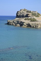 Sea and ruins in Crete