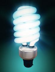 blue energy saving bulb
