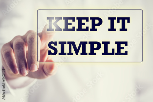 Keep It Simple on a virtual screen