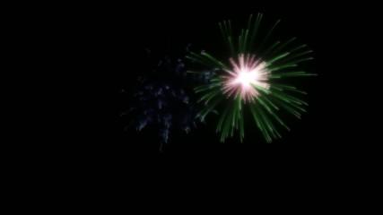 Fuochi d'artificio con canale alpha, scontorno