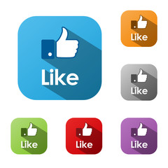 """LIKE"" Web Button (recommend comment social media thumbs up)"