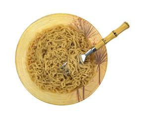 Crinkled Noodle Soup Beef Broth