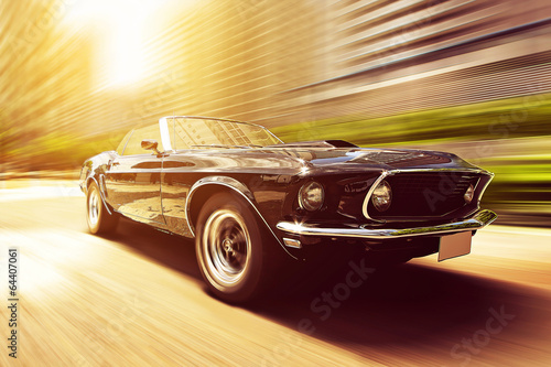Canvas Vintage cars Classic Cabriolet
