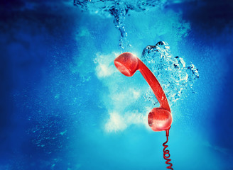 underwater phone call