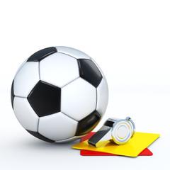 Ball mit Pfeife und Karten