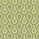 Fototapety Seamless retro drops background pattern green
