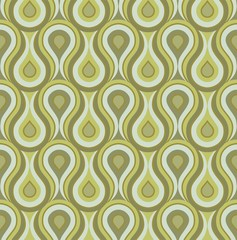 Seamless retro drops background pattern green