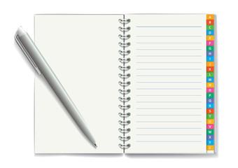 Notepad. Vector illustration