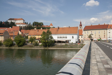 Ptuj - Footbridge over Drava river for walkers and cyclists